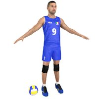 volleyball player ball 3D