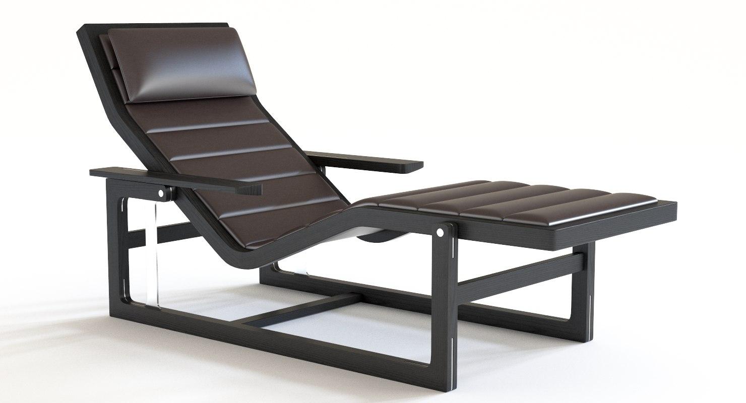 Lounge poltrona frau byron model - TurboSquid 1307346