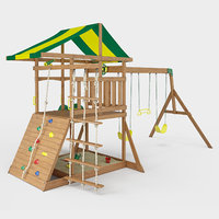 mount mckinley wooden swing set 3D model