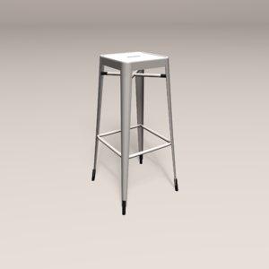tolix stool 3D model
