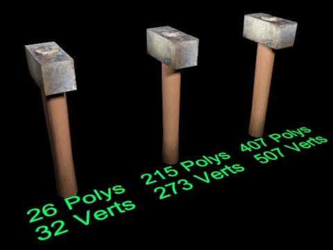 3D hammer01 model