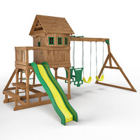 3D springboro wooden swing