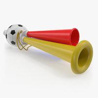 soccer horn toy megaphone 3D model