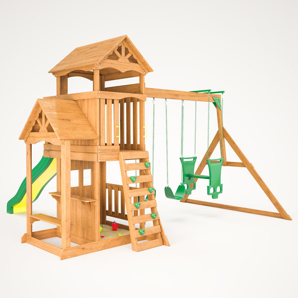 3D tanglewood wooden swing set