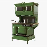 retro stove 3D model
