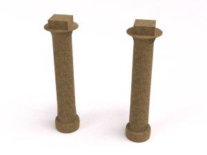 3D egyptian column customizable