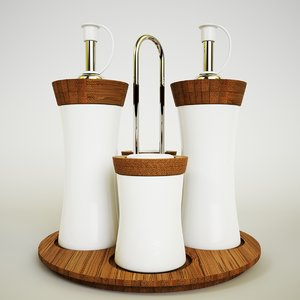 3D model tableware set