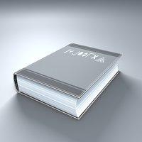 3D model simple book