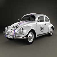 volkswagen herbie love 3D model