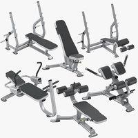 ab bench press 3D model