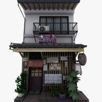 3D old restaurant model