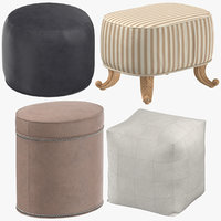 poufs classical traditional 3D model