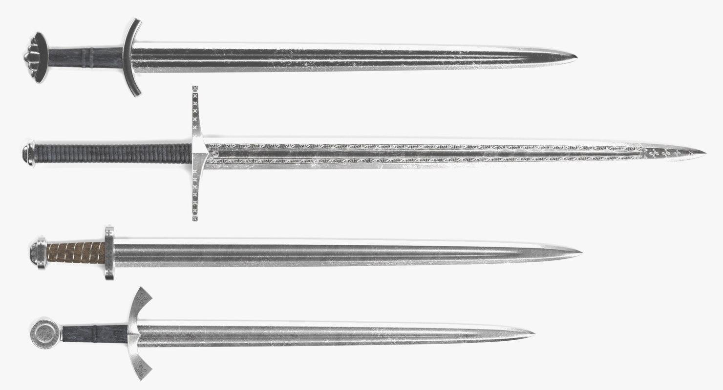 viking swords 3D model