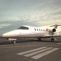learjet 75 jet 3D model