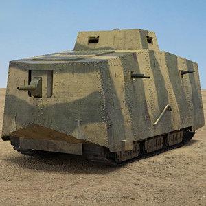 a7v sturmpanzerwagen model