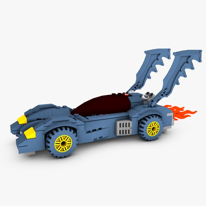 3D lego batmobile model