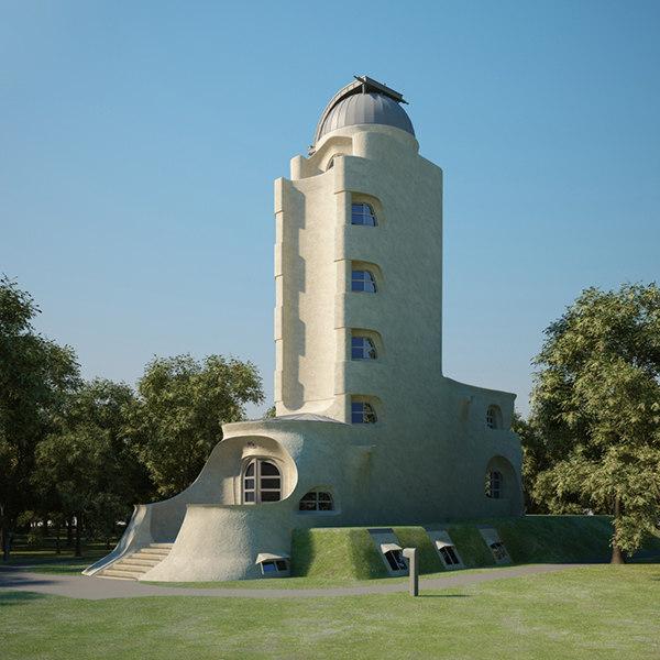 3D einstein tower model