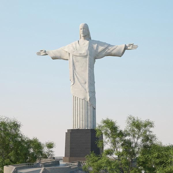 3D christ redeemer