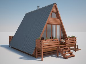 bungalow house modeled 3D model