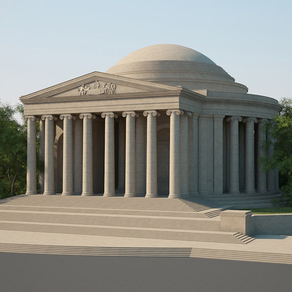 3D model thomas jefferson memorial