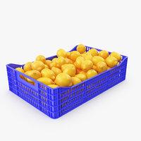 3D model lemons v-ray