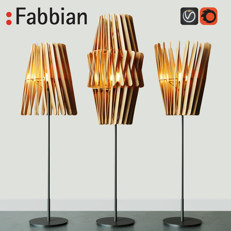 3D lamp fabbian stick f23