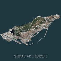 gibraltar terrain 3D model