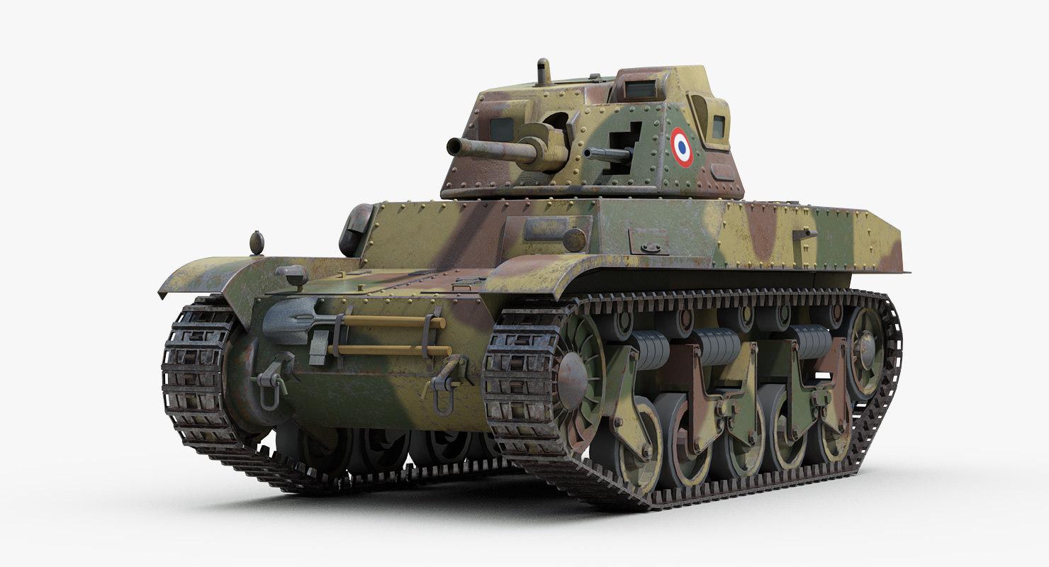 ww2 renault acg1 tank 3D