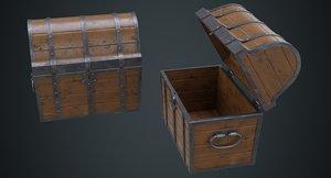 3D wooden chest 1a