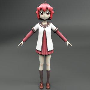 3D akari akaza girl model