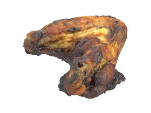 3D photorealistic scanned grilled chicken model