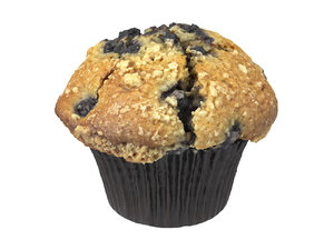 photorealistic scanned blueberry muffin 3D model