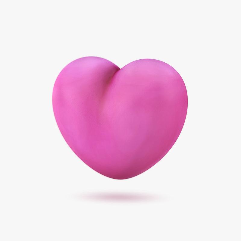 3D cartoon heart model