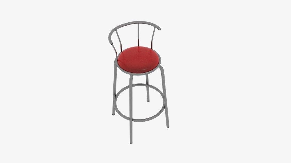 stool curve 3D model
