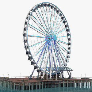 seattle great ferris wheel 3D model