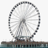 3D model seattle great ferris wheel