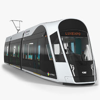 3D luxembourg tram urbos model