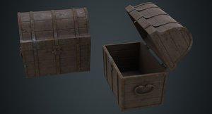 wooden chest 1c 3D