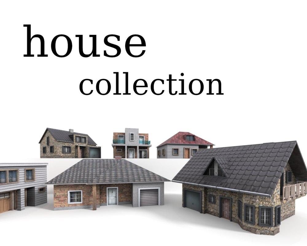 family house games 3D model