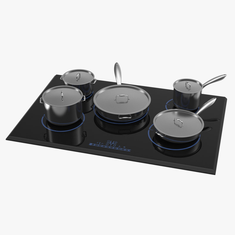 5 zone induction hob 3D model