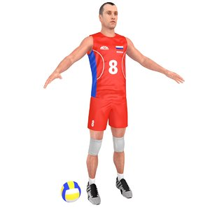volleyball player ball model