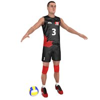 volleyball player ball 3D model