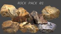 rock pack 01 3D model