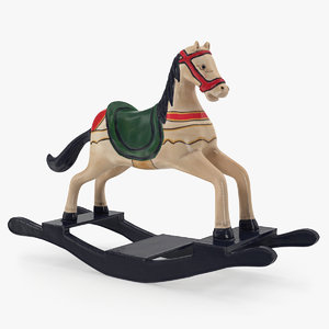3D model retro toy rocking horse