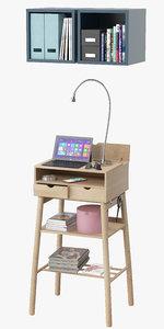 3D ikea knotten standing desks