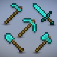 minecraft diamond tools - model