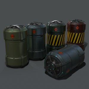 barrel sci-fi 3D model