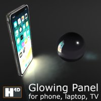 3D glowing screen phone tv