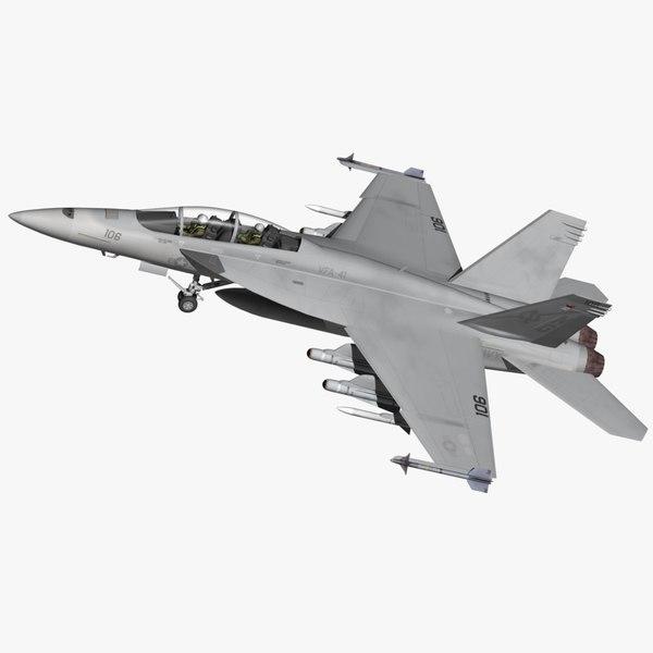 super hornet fa18f 3D model