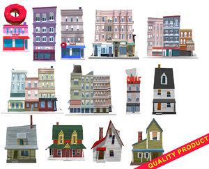 houses buildings 3D model